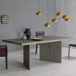Grey Wood Oak Dining Table